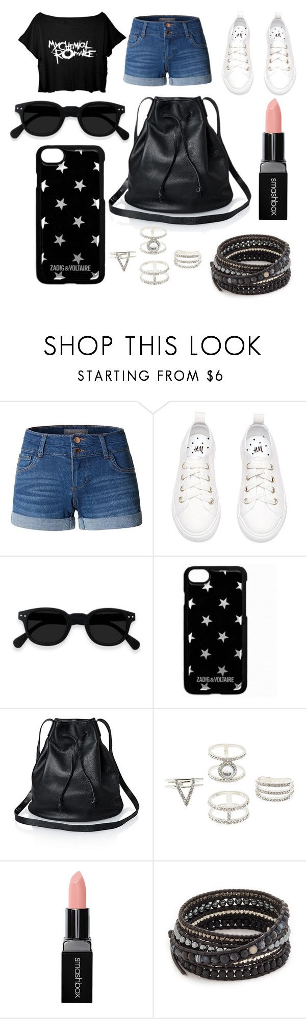 """""""9"""" by thisisalle on Polyvore featuring LE3NO, Zadig & Voltaire, Charlotte Russe, Smashbox and Chan Luu"""