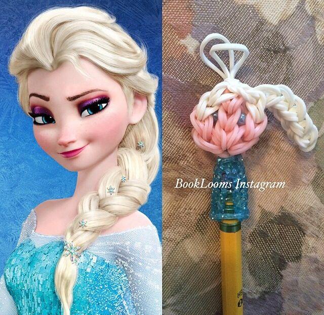Rainbow Loom Elsa Pencil Topper inspired by @MarloomZ Creations Creations Creations