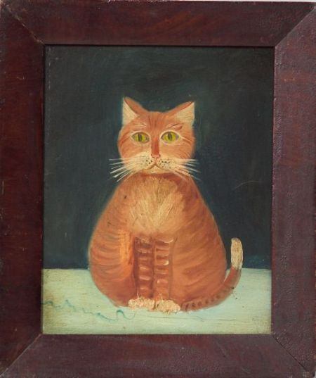 American School, 19th Century Portrait of a Yellow Cat. | Sale Number 2337, Lot Number 2 | Skinner Auctioneers