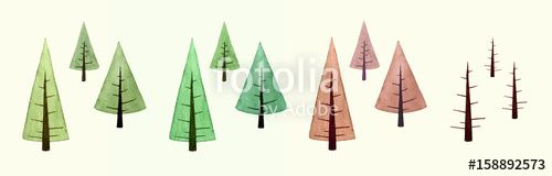 """Download the royalty-free photo """"Watercolor of spring, summer, autumn and winter tree"""" created by cougarsan at the lowest price on Fotolia.com. Browse our cheap image bank online to find the perfect stock photo for your marketing projects!"""