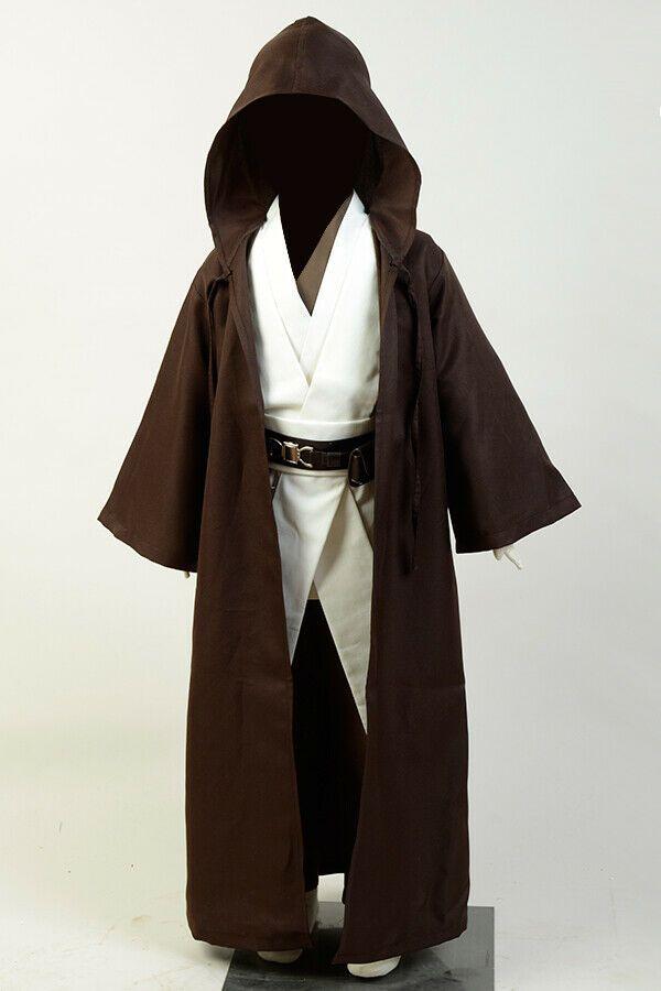 Star Wars Jedi Knight Obi Wan Kenobi Cosplay Costume Kids Outfit Child Uniform | Star wars halloween, Jedi costume, Star wars kenobi