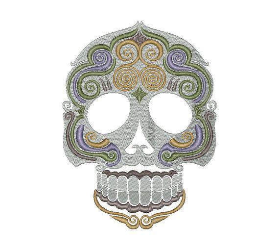 Sugar Skull Design Machine Embroidery File Calavera