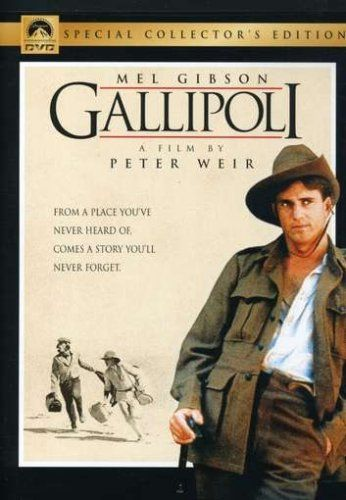 Directed by Peter Weir.  With Mel Gibson, Mark Lee, William Henry Kerr, Harold Hopkins. Two Australian sprinters face the brutal realities of war when they are sent to fight in the Gallipoli campaign in Turkey during World War I.
