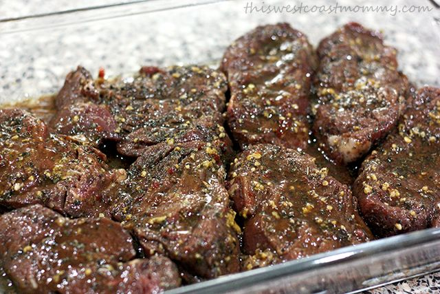 Asian marinated beef tenderloin bakes in the oven for a dinner ready in just 20 minutes!