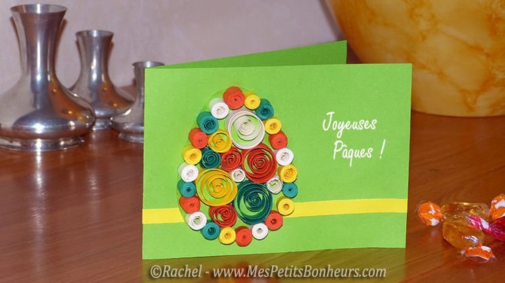 carte oeuf paques quilling facile enfant