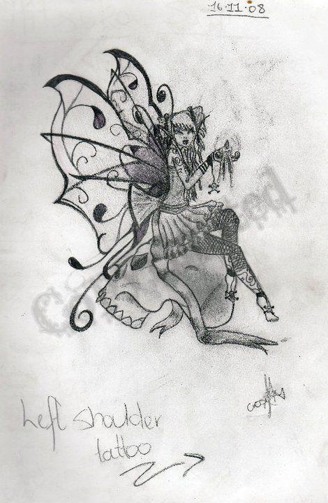 139 best tattoo images on pinterest tattoo ideas for Skull fairy tattoos