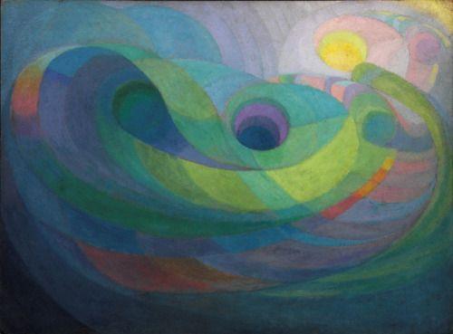 Pierre-Jean Maurel - Roy de Maistre (1894-1968) Rhythmic composition in...