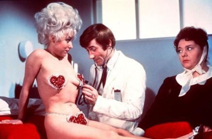 Carry on Doctor Barbara Windsor, Jim Dale and Hattie Jacques(ohh matron.)
