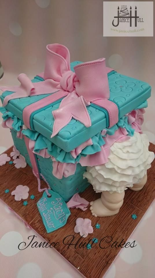 Baby in a box cake by Janice Hull Cakes www.janicehull.com