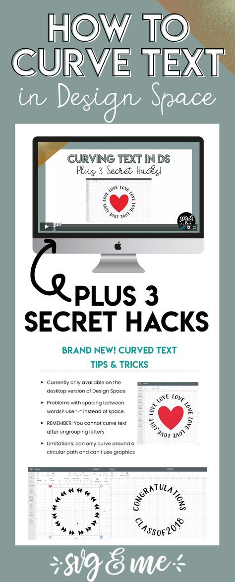 BRAND NEW: 3 Curved Text Secret Hacks for Design Space
