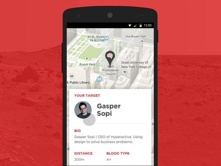 Zombie target locations Mobile App UI Interaction