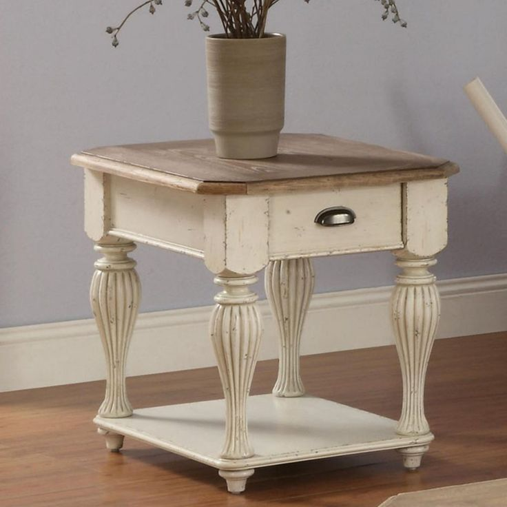Riverside Coventry Two Tone Rectangle End Table 32509