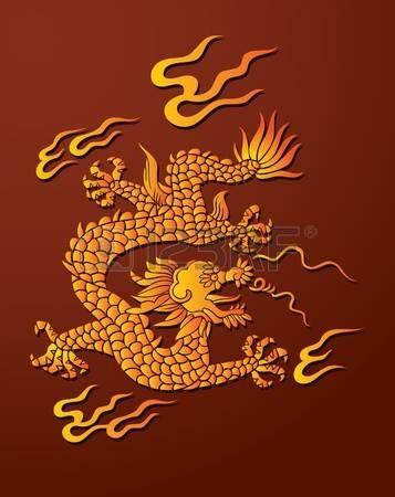 dragon chino: Dragón chino tradicional, señor de aire y el agua