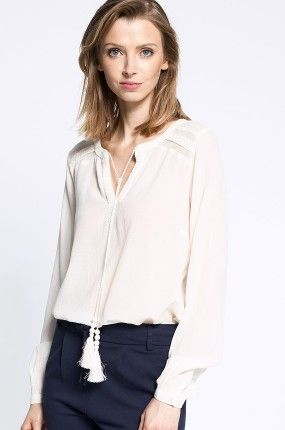 Vila - Bluzka biała elegancka Skilla