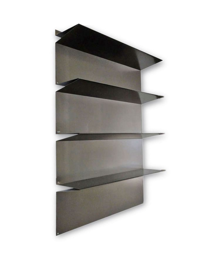Rene Veenhuizen and Tejo Remy; Bent Sheet Metal Modular Shelving Prototype, 1995.