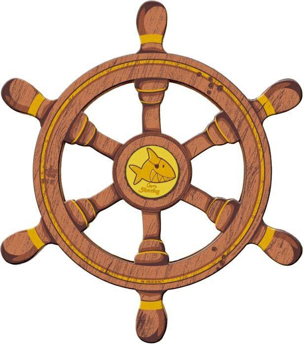 sharky, capt'n, kapitein, piraat, stuurwiel, wiel, schip, boot, decoratie, kinderkamer, piratenkamer,10643,