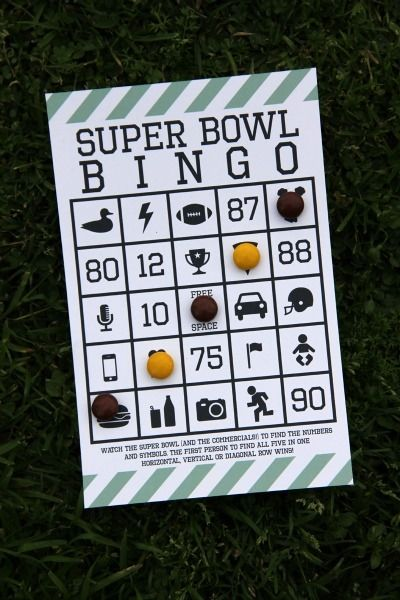 Super Bowl Free Printable Bingo at Studio DIY