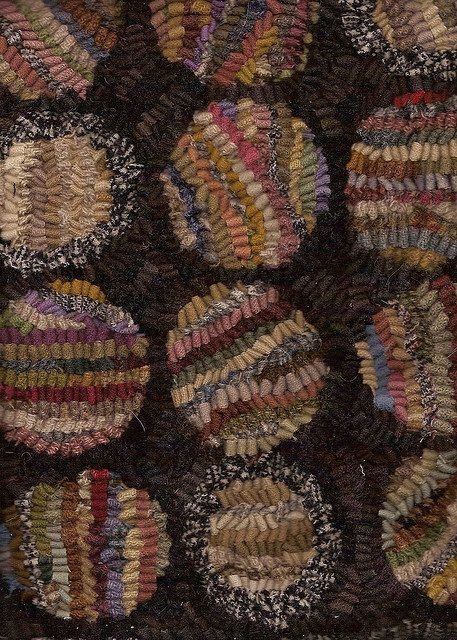 detail - hooked rug.  Hit 'n Miss in different directions, nice.