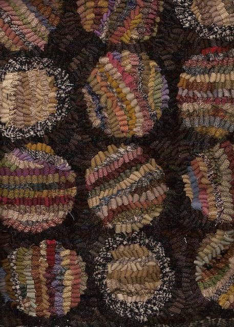 detail - hooked rug