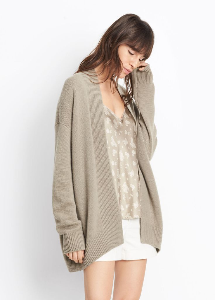 Cashmere Boxy Cardigan for Women | Vince