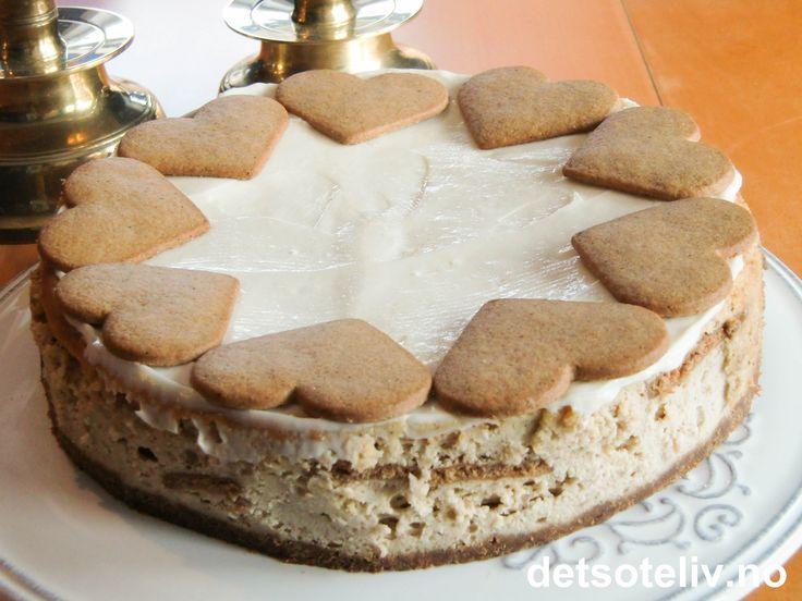 Krydret cheesecake med pepperkaker