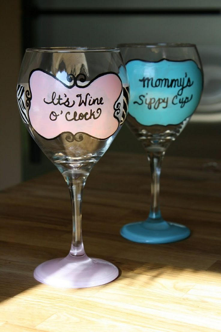 48 best wine glass painting images on pinterest glass for Do it yourself wine glasses