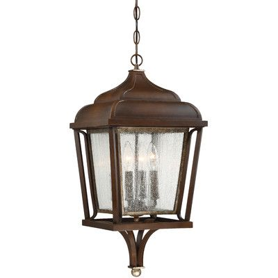 Laurel Foundry Modern Farmhouse Evelin 4 Light Outdoor Hanging Lantern