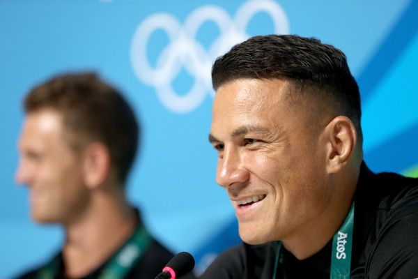 Sonny Bill Williams Photos Photos - Sonny Bill Williams of the New Zealand Mens Rugby Sevens team speaks to media during a press conference ahead of the 2016 Olympic Games on August 3, 2016 in Rio de Janeiro, Brazil. - Olympics - Previews - Day -2
