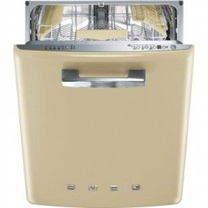 "Smeg Retro 24"" Cream Fully Integrated Dishwasher - Energy Star"
