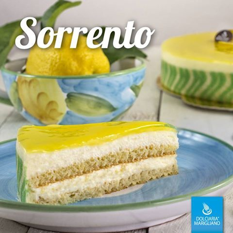 Cediamo alla dolcezza della #Costiera #Amalfitana  #Torta #Sorrento  Biscotto alle Mandorle imbevuto di Limoncello e farcito con Crema di Limoni di Sorrento
