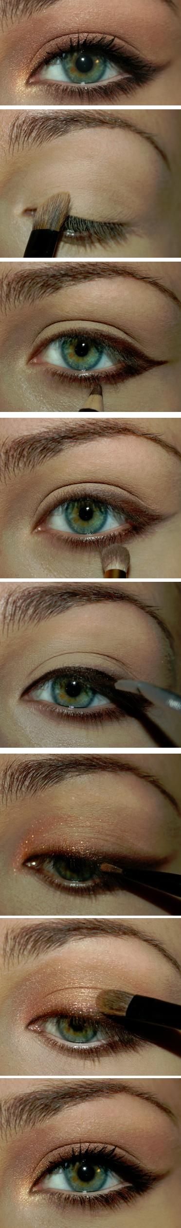 copper, gold, and pink - special occasion eye makeup