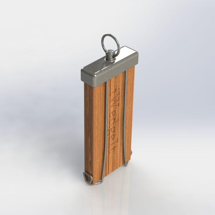 Keep your iWedgeIt shims on your key ring with the iWedgeIt Fob