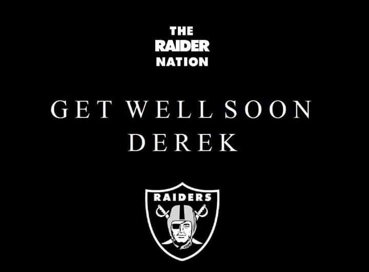 Our thoughts and prayers go out to #4- Derek Carr for a speedy recovery.