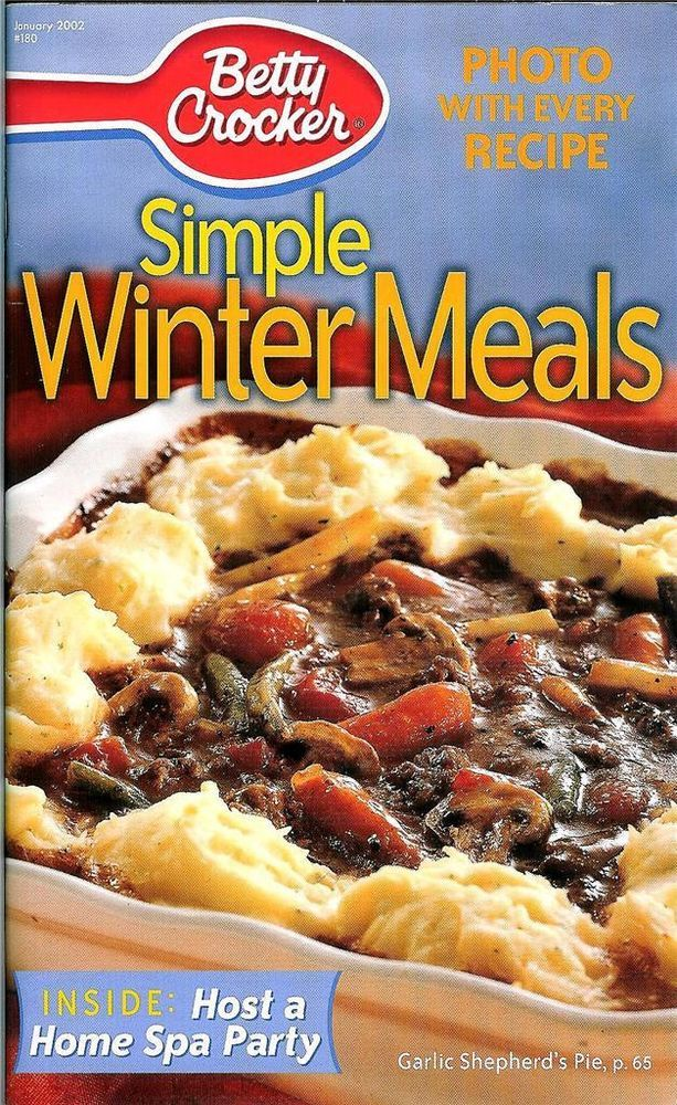 20 best cookbooks images on pinterest easy cooking easy food betty crocker simple winter meals recipe book 180 photo with every recipe forumfinder Images