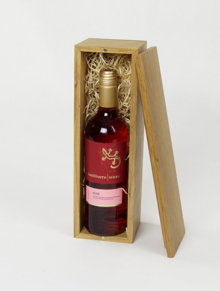 Wooden Wine /Whisky /Spirit /Luxury Oak Box /Single Bottle /Hand crafted /Gift by PulverandHolz on Etsy
