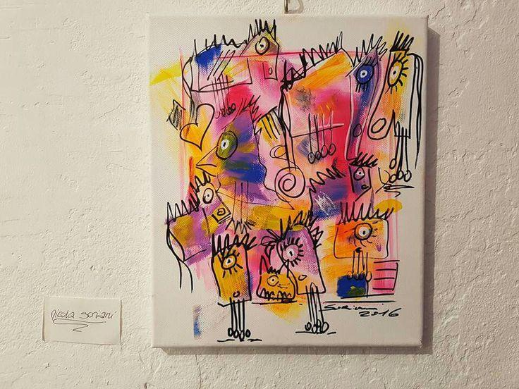 Opera di NICOLA SORIANI in esposizione presso la Badalucco art gallery