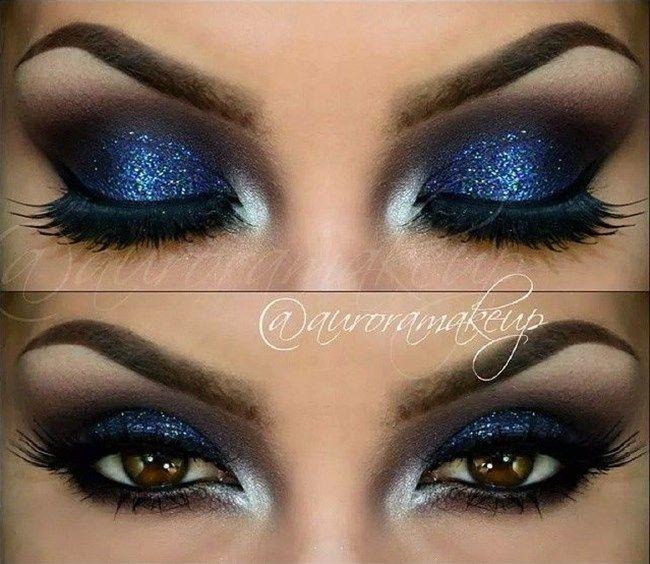 Resultado de imagem para maquilhagem azul para olhos castanhos