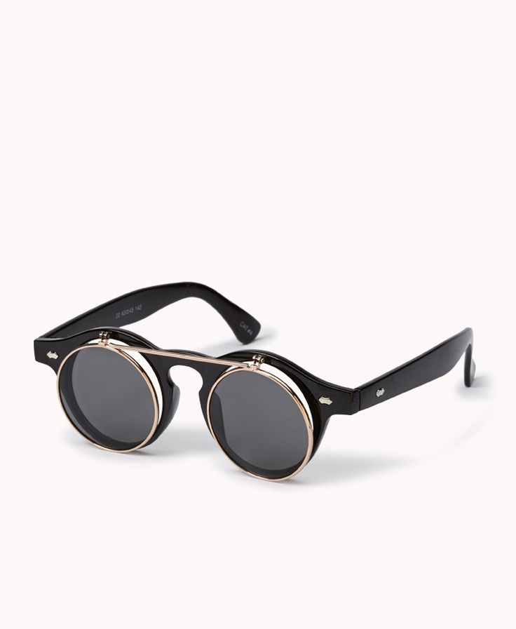 F0356 Flip Sunglasses | FOREVER21 What shape are your shades? #Summer #Sunnies #RoundFrame