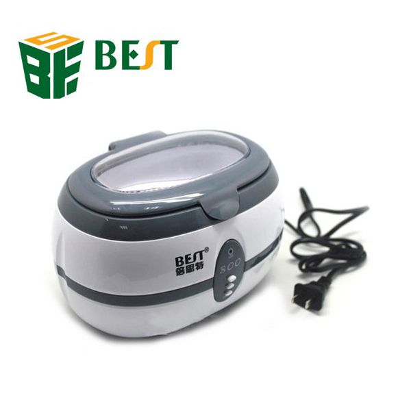 Description :   BEST-800 35W 600ml High Quality Stainless Steel Ultrasonic Cleaner  This ultrasonic device is controled By CPU. Stainless steel used to build the body. Very beautiful appearance, high efficiency, stable performance, long service life. Widely used in the cleaning requirements of high optical quality, watch parts, fine jewelry bearings, medical equipment, electronic PCB boards.  Specifications :   Brand : BEST Model : 800 Total power : 35W Frequency : 40kHz…