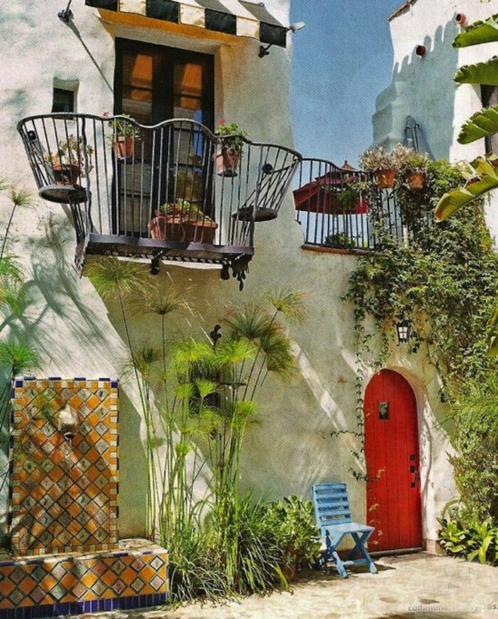 86 Best 05 Mediterranean Style Homes Images On Pinterest: 439 Best Images About Santa Barbara-Mexican Courtyard