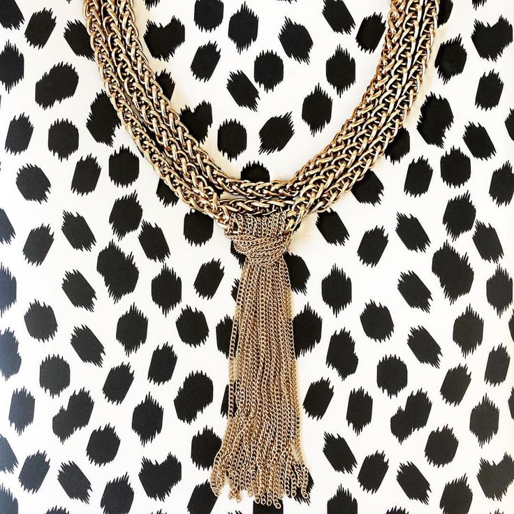 "49 Likes, 8 Comments - Boxx Jewelry (@boxxjewelry) on Instagram: ""Get S P O T T E D wearing stunning jewelry! A chunky gold necklace paired with a bold pattern…"""