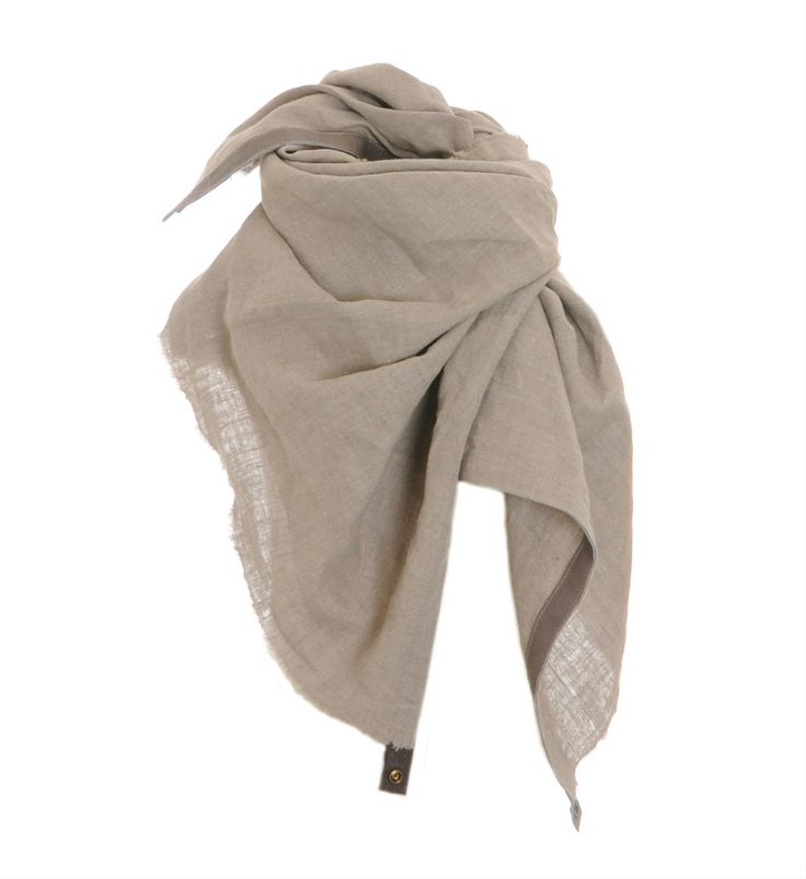 Pimps & Pearls handgemaakte sjaal, model Coco, van biologisch linnen - afmetingen ca 85 x 150 cm - NummerZestien.eu