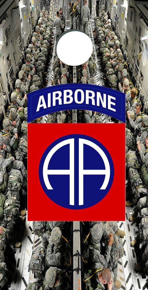 82nd Airborne cornhole wrap, US Army cornhole wrap, Custom ARMY decals, custom