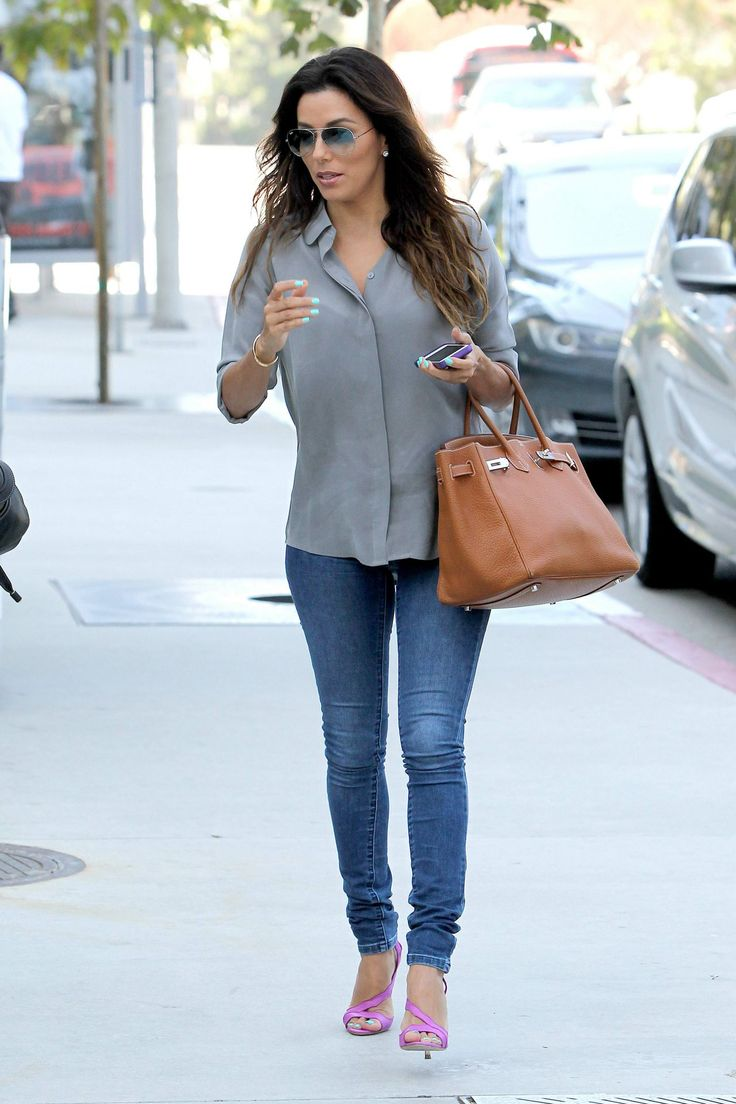 Eva Longoria in Tight Jeans - Out in LA, August 2014