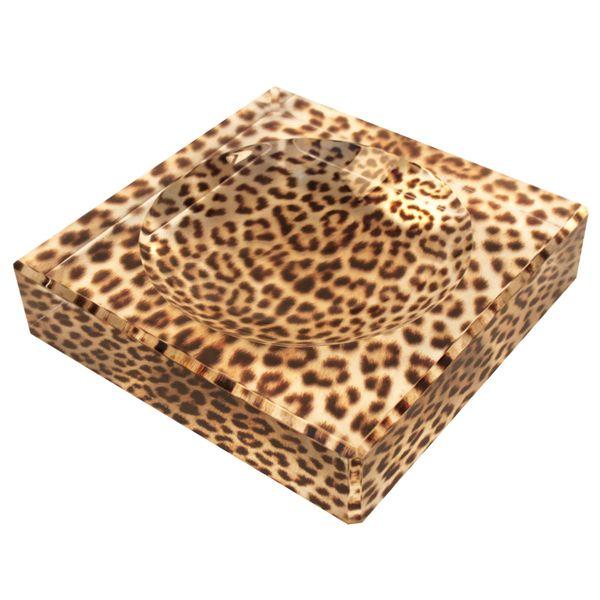 Acrylic Leopard Printed Charm Bowl