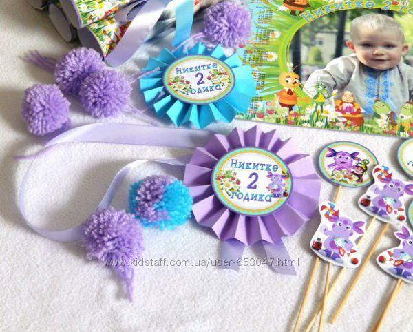 Детский День рождения в стиле Лунтик, оформление, декор -...оформление, украшение, декор, день, рождения, кенди, бар, детский, праздник...