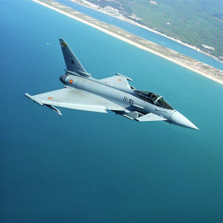 Spanish Air Force Eurofighter Typhoon II off the Spanish coast.