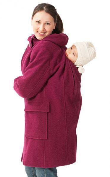 Draag je baby lekker warm in de Mamalila Wollen Draagmantel Fuchsia, zo zijn jij én je baby helemaal in stijl.
