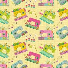 Blend - Maia Farrell - Home Grown - Time To Sew (Yellow) Fabric available at @SewScrumptious