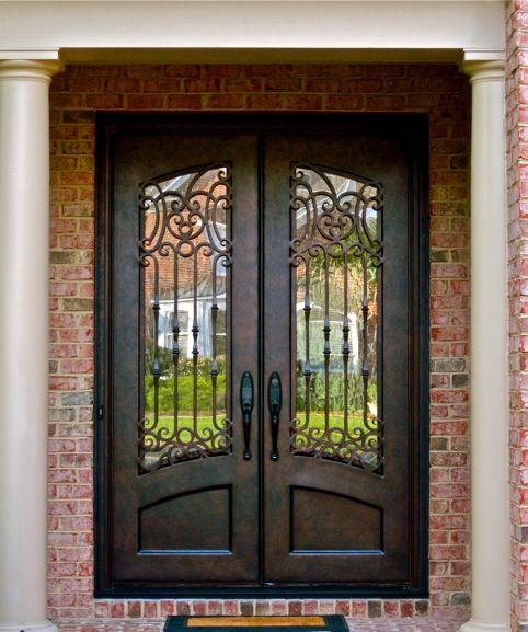 Wood And Iron Front Doors: Hand Carved Wood And